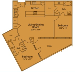 1,397 sq. ft. IA floor plan