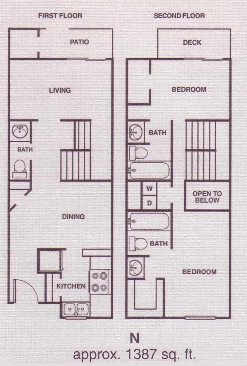 1,387 sq. ft. C6 floor plan