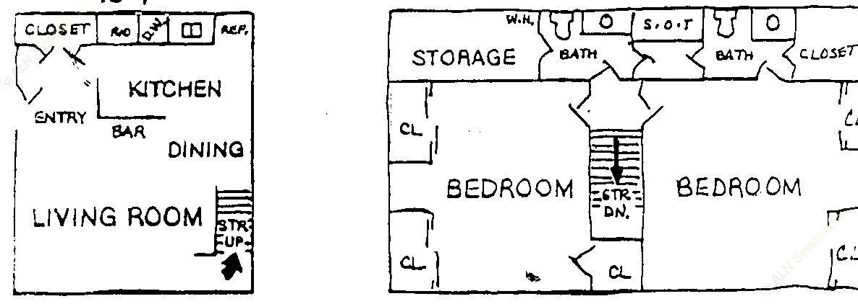 1,123 sq. ft. floor plan