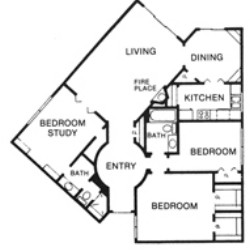 1,505 sq. ft. I floor plan