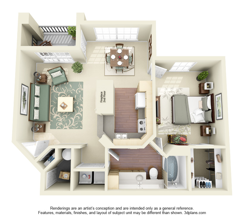 785 sq. ft. Canyon floor plan