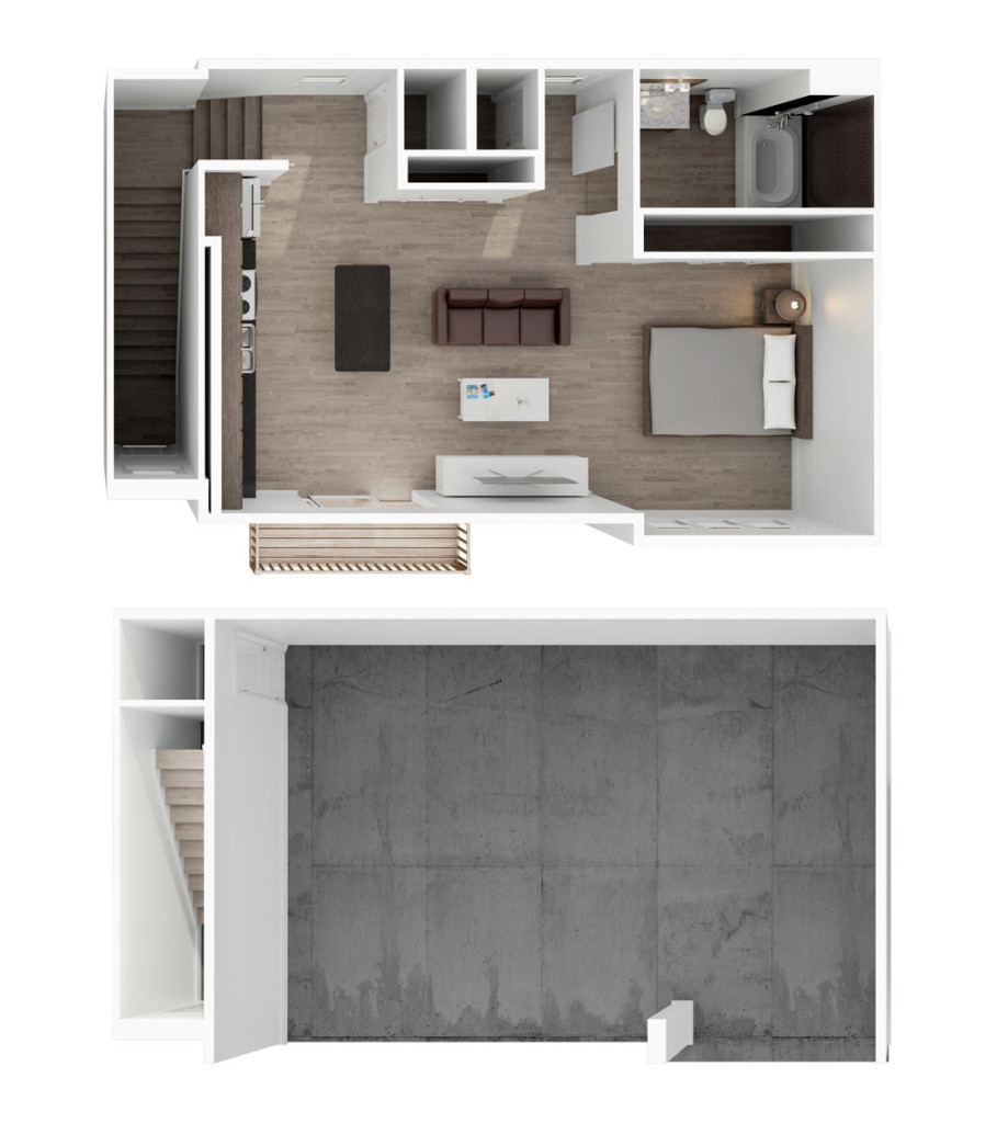 760 sq. ft. Matilida floor plan