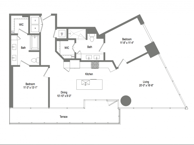 1,369 sq. ft. B6 floor plan