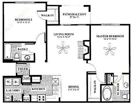 1,084 sq. ft. Conservatory w/G floor plan