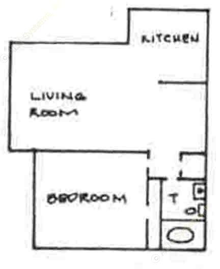 530 sq. ft. floor plan