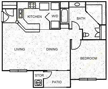 780 sq. ft. BALTIC floor plan