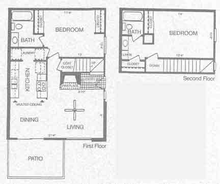 1,000 sq. ft. SAGUARO floor plan