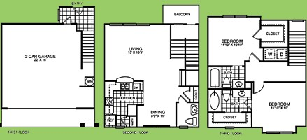 1,208 sq. ft. B2.5TA floor plan