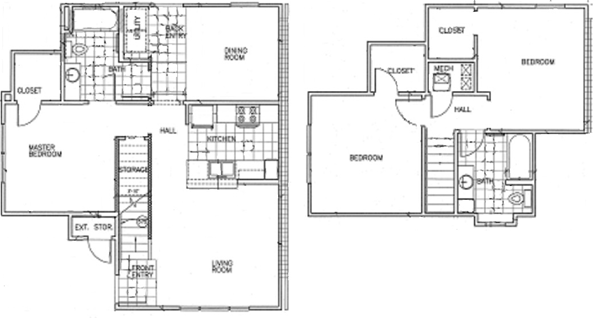 1,359 sq. ft. 60% floor plan