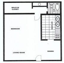 440 sq. ft. floor plan