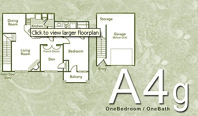 936 sq. ft. A4G floor plan