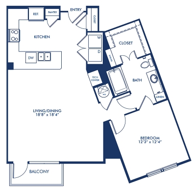928 sq. ft. A13.1 floor plan