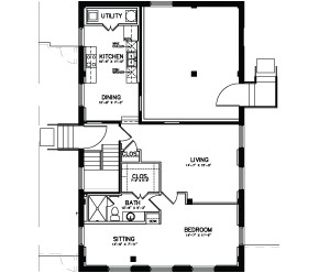 1,021 sq. ft. Unit 18 floor plan