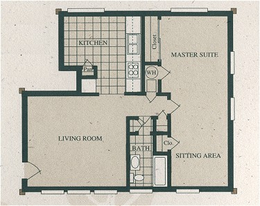 716 sq. ft. A1-110/60% floor plan