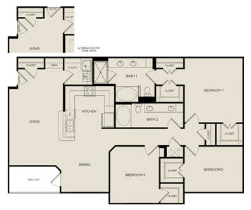 1,576 sq. ft. C1 floor plan