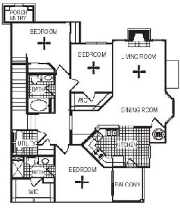1,481 sq. ft. C4G floor plan