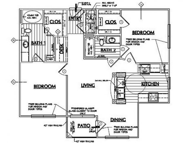 1,051 sq. ft. Saddle floor plan