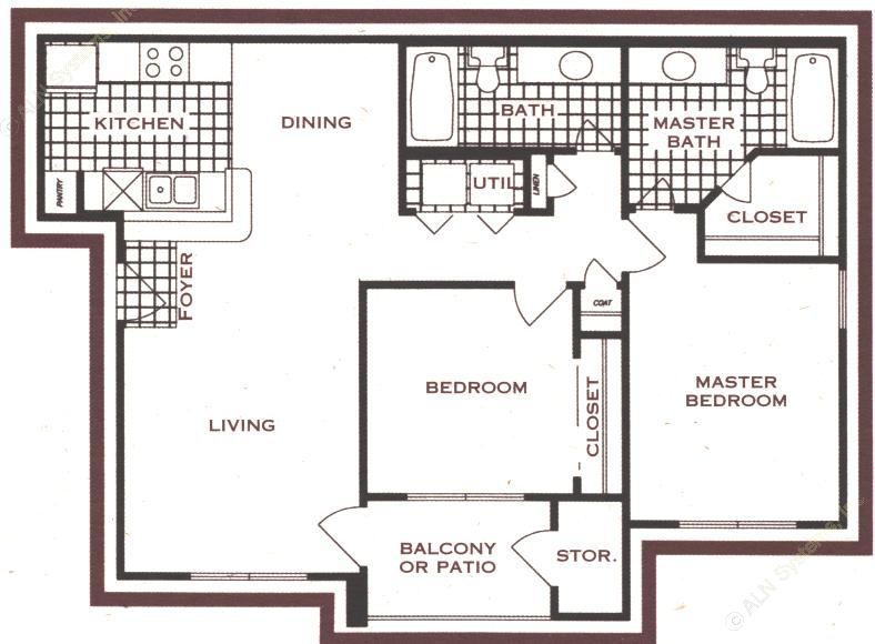966 sq. ft. floor plan