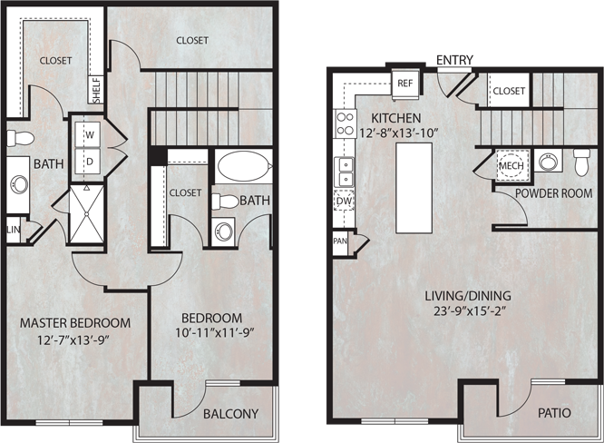 1,604 sq. ft. TH4.1 floor plan