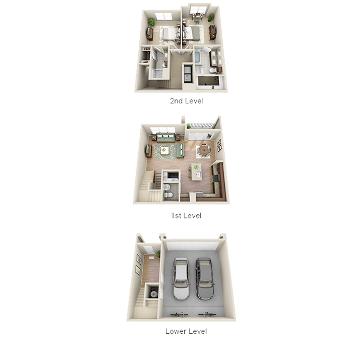 1,447 sq. ft. B3 floor plan