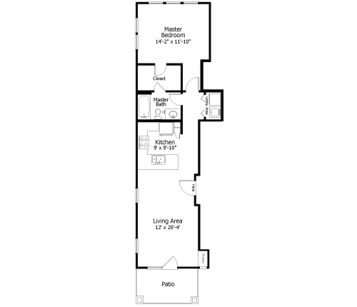 736 sq. ft. to 865 sq. ft. 3A5 floor plan