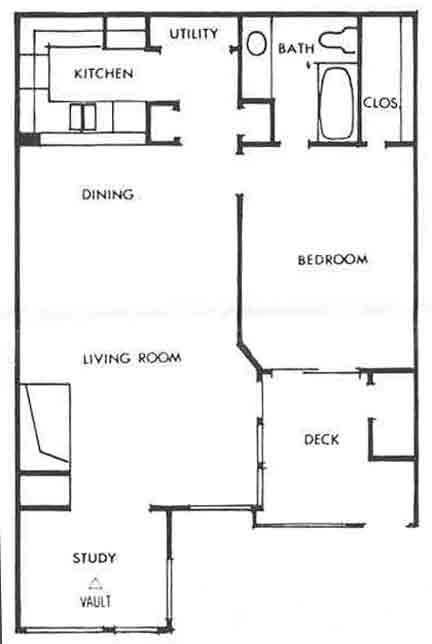 784 sq. ft. B floor plan
