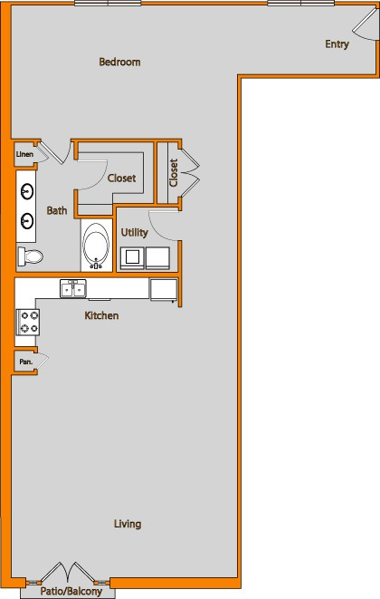 1,289 sq. ft. LOFT 12 floor plan