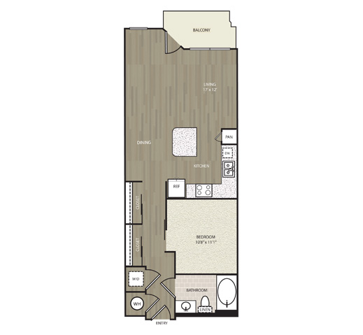 705 sq. ft. A4 floor plan