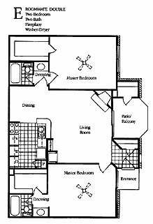 1,150 sq. ft. E1&E2 floor plan