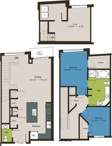 1,533 sq. ft. TSC floor plan