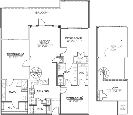 1,521 sq. ft. floor plan