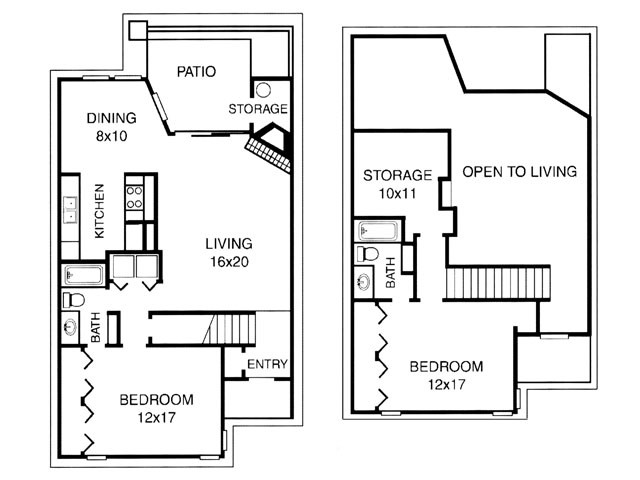 1,320 sq. ft. D floor plan