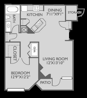 769 sq. ft. Brighton floor plan