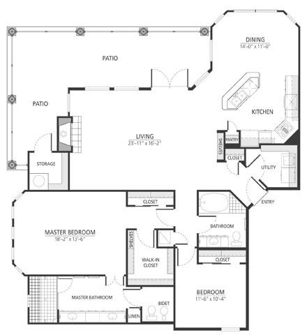 1,649 sq. ft. B4 floor plan