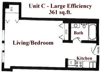 361 sq. ft. floor plan