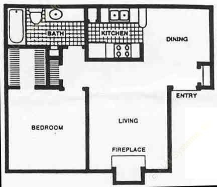 648 sq. ft. Ph II/60% floor plan