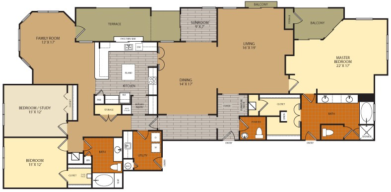 2,946 sq. ft. C4 floor plan