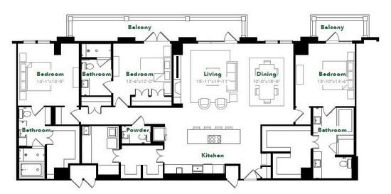 2,512 sq. ft. PH78 floor plan