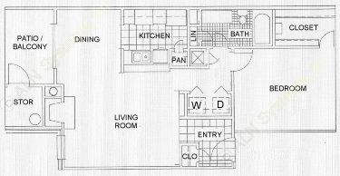 777 sq. ft. Martinique floor plan