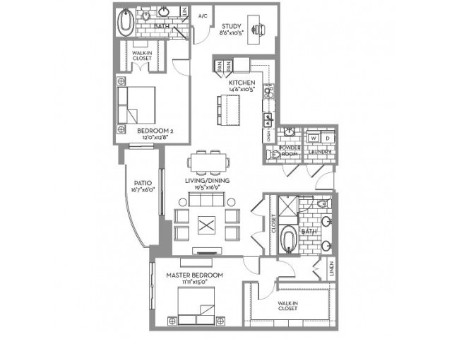 1,754 sq. ft. Preston(B.4) floor plan