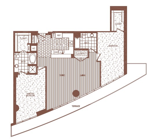 1,663 sq. ft. PH 7 floor plan