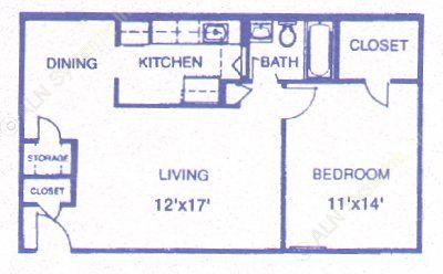 682 sq. ft. Cobblestone floor plan