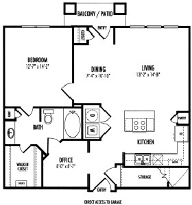 912 sq. ft. Lancaster floor plan