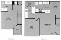 1,118 sq. ft. 60% floor plan