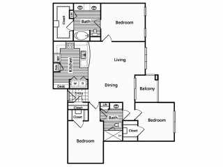1,419 sq. ft. F floor plan