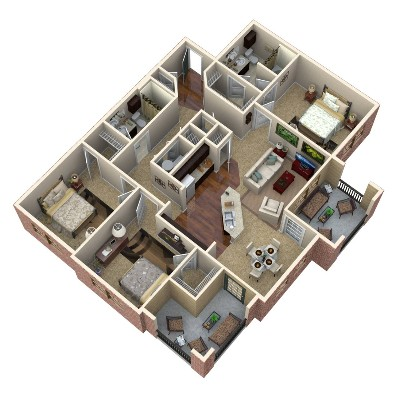 1,362 sq. ft. Jasper floor plan