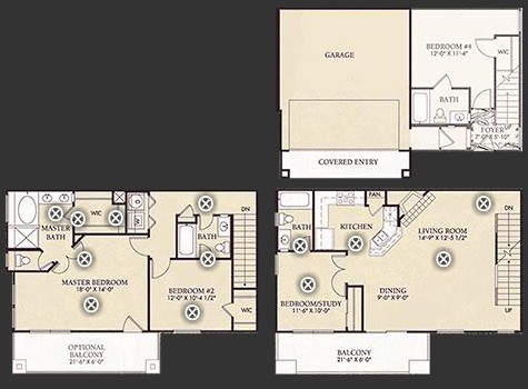 1,799 sq. ft. D1/D1U floor plan