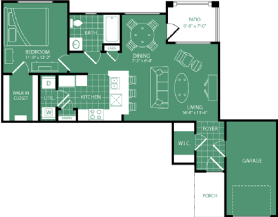 764 sq. ft. Bandon Dunes floor plan