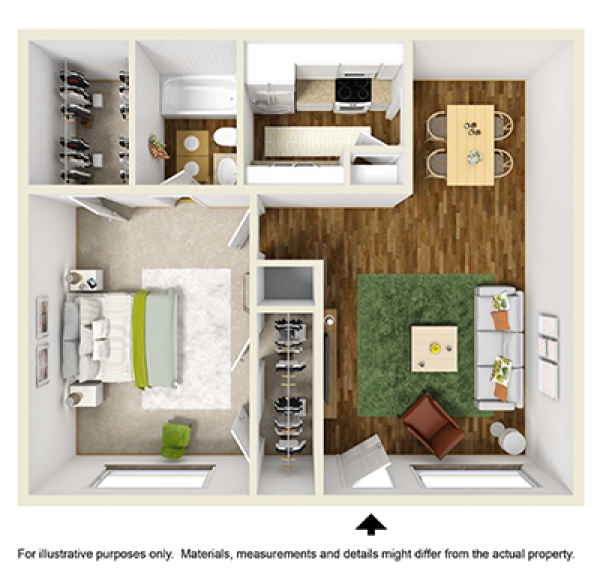 589 sq. ft. floor plan