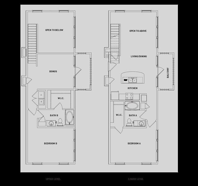 1,503 sq. ft. BB5-TH floor plan